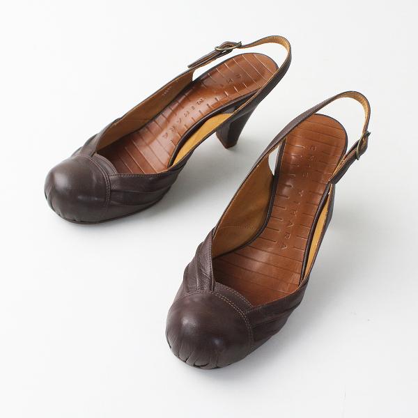 CHIE MIHARA チエミハラ ストラップ パンプス 37/ブラウン シューズ 靴 ヒール 【2400011305565】