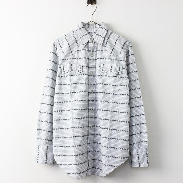 極美品 定価2万 ANATOMICA アナトミカ DOBBY CLOTH WESTERN SHIRT ドビー クロス ウエスタン シャツ XS/メンズ グレー【2400011309457】