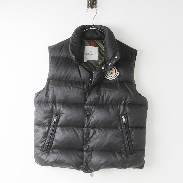 メンズ 国内正規品 MONCLER モンクレール TIBET チベット ワッペン付き ダウンベスト T2///ブラック 黒 羽織り トップス【2400011311146】