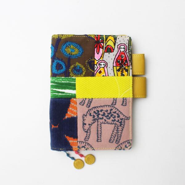 mina perhonen ミナペルホネン ほぼ日 手帳カバー piece オリジナル/マルチ × イエロー 小物 ケース【2400011319371】