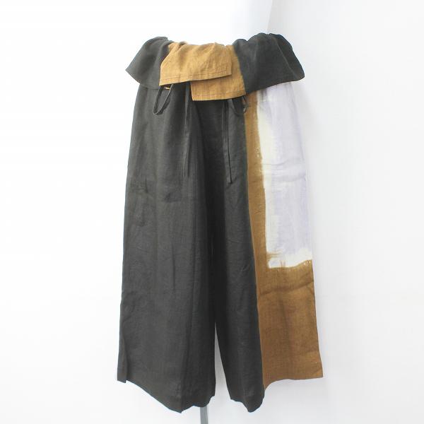 Y's Yohji Yamamoto ワイズ ヨウジヤマモト グラデーションプリント リネン ワイド パンツ 2/ドロスト ワイド【2400011320483】