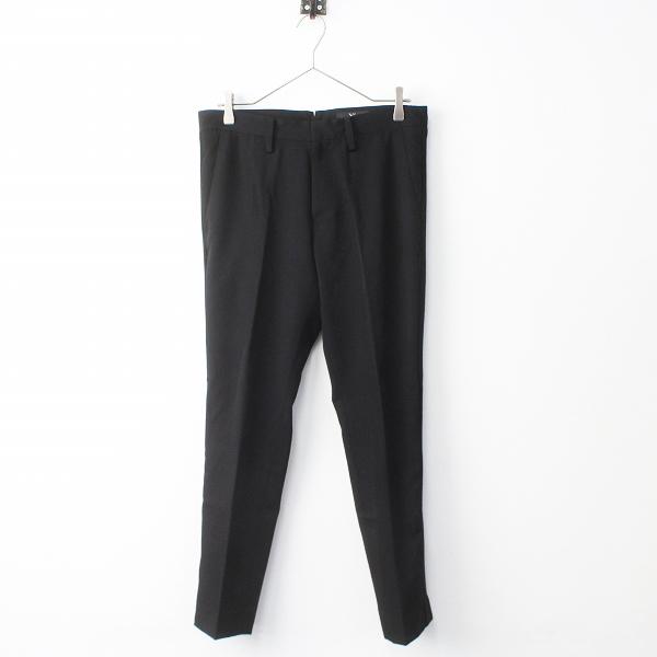 Y's Yohji Yamamoto ワイズ ヨウジヤマモト サイドライン ウール スラックス パンツ 2/ブラック ジップフライ【2400011320612】