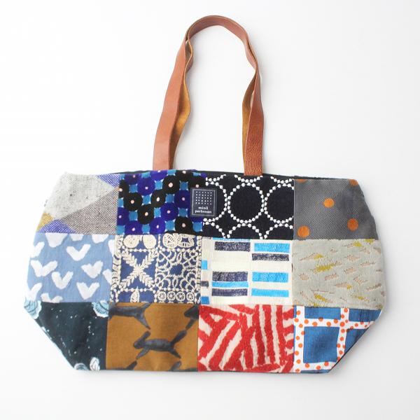 美品 mina perhonen ミナペルホネン piece bag /刺繍 トートバッグ 鞄 カバン choucho【2400011323309】