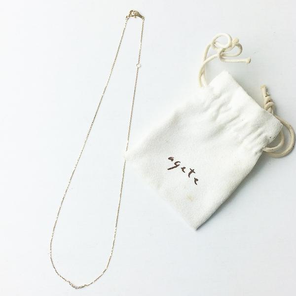 agete アガット K10 0.05ct ダイヤモンド ゴールド ネックレス/アクセサリー 小物【2400011336750】