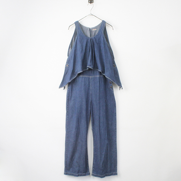 KAPITAL キャピタル シャツ デニム レイヤード オーバーオール S/ブルー パンツ オールインワン 【2400011337252】