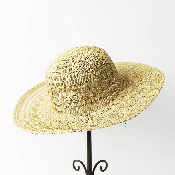 未使用 45R フォーティーファイブ すかし編み パナマ HAT/ナチュラル 麦わら 帽子 ハット 小物 アクセサリー【2400011337795】