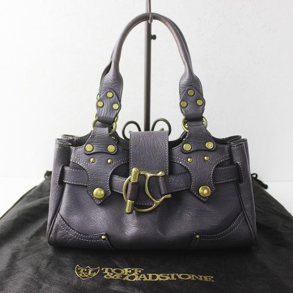 TOFF&LOADSTONE トフアンドロードストーン レザー ハンドバッグ/パープルグレー 鞄 カバン BAG 【2400011339478】