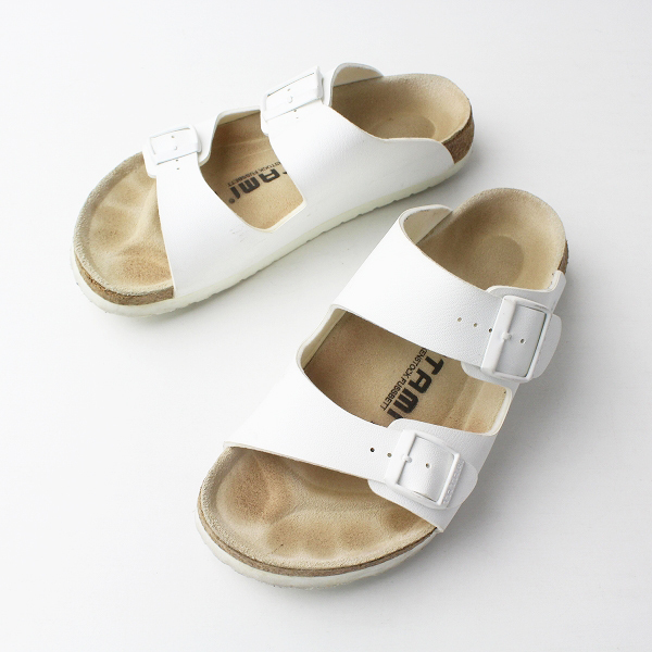 BIRKENSTOCK TATAMI ビルケンシュトック タタミ ELBE エルベ フラット サンダル 37/ホワイト 白 クツ シューズ 靴【2400011339980】