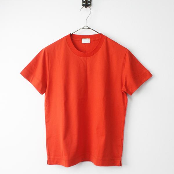 極美品 UNITED ARROWS ユナイテッドアローズ 2019SS SFL クルーネック Tシャツ カラートップス S/オレンジ トップス【2400011347725】