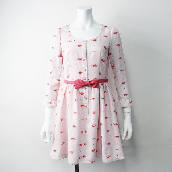 MILK ミルク リップ ウィンク ワンピース/ドレス ピンク フレア 長袖【2400011349262】
