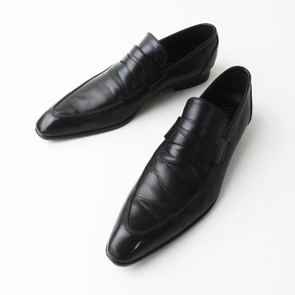 メンズ OPELKA オペルカ レザー ビジネス シューズ スリッポン 25.5/ブラック 黒 クツ 靴 MENS【2400011349323】