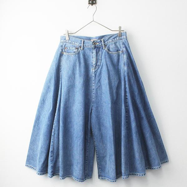 KAPITAL キャピタル デニム ワイド パンツ 1/ブルー ボトムス ジップフライ ガウチョ ジーンズ【2400011350473】