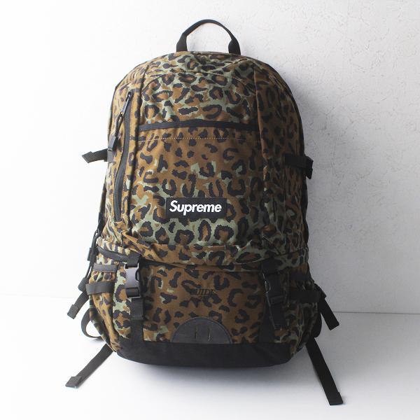 【期間限定10%OFF】Supreme シュプリーム 2010SS 27代目 Leopard BackPack GUIDE28 レオパード バックパック/カーキ グリーン 鞄 BAG【2400011350923】