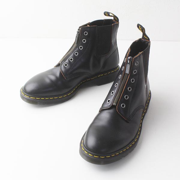2018SS 定価2.7万 Dr.Martens ドクターマーチン CORE 101 GST 6EYE BOOT サイドゴア ジップ ブーツ UK9 1/2 /メンズ 黒【2400011351760】