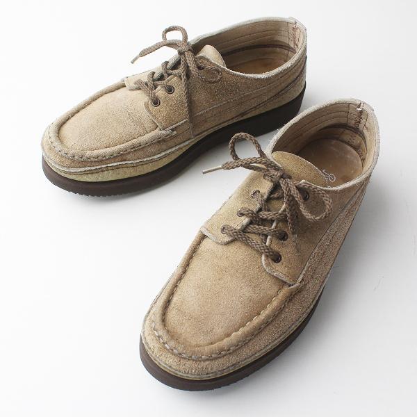 メンズ Russell Moccasin ラッセルモカシン スエード レザー デッキシューズ 7.5/ベージュ 靴 クツ くつ MENS【2400011352170】