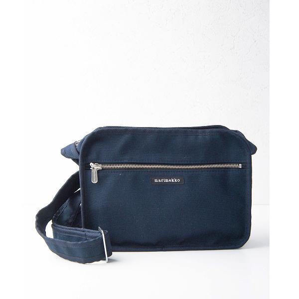 marimekko マリメッコ City ショルダー バッグ/ネイビー 紺 カバン 鞄 BAG 肩掛け【2400011360045】