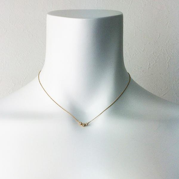 STAR JEWELRY スタージュエリー K18 ダイヤモンド ネックレス 0.06/ゴールド ペンダント アクセサリー 小物【2400011360779】