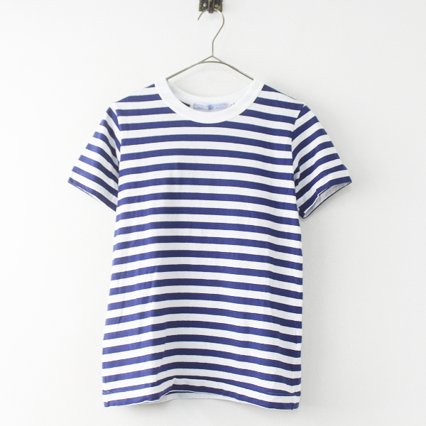 R&D.M.Co- オールドマンズテーラー ボーダー Tシャツ M/ブルー×ホワイト ショートスリーブ カットソー【2400011361042】