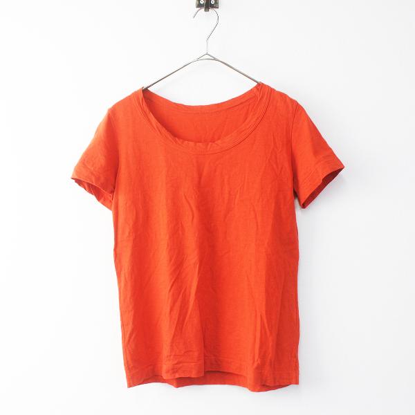 45R フォーティーファイブ コットン Tシャツ 3/オレンジ 半袖 日本製 カジュアル トップス【2400011364869】