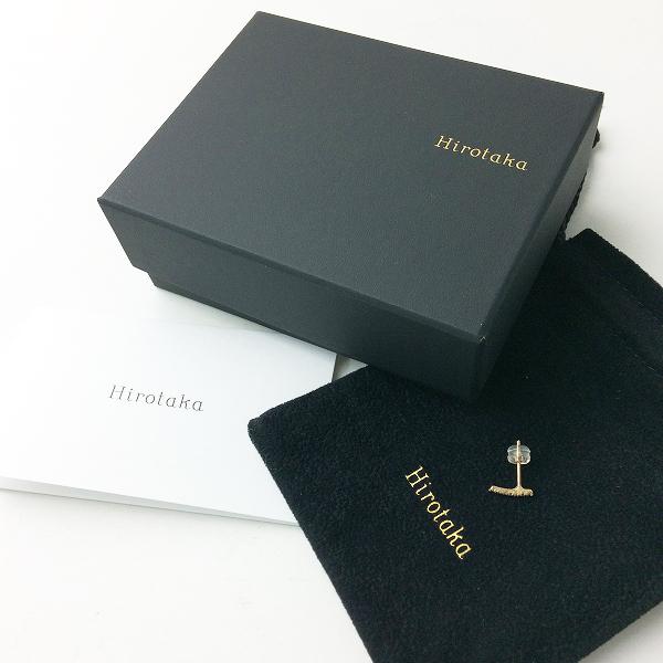 Hirotaka ヒロタカ Gossamer Diamond Staple Earring K10YG ダイヤモンド 片耳 ピアス /ゴールド アクセサリー【2400011368454】
