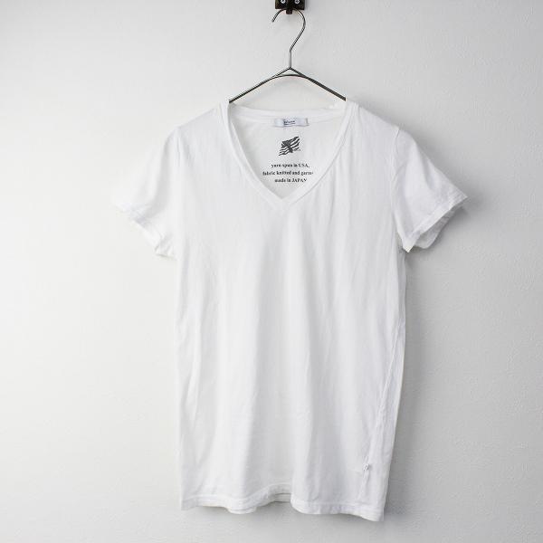 JOURNAL STANDARD relume ジャーナルスタンダードレリューム 36/-USA テンジク Vネック ショートスリーブ Tシャツ F/白【2400011369543】-.