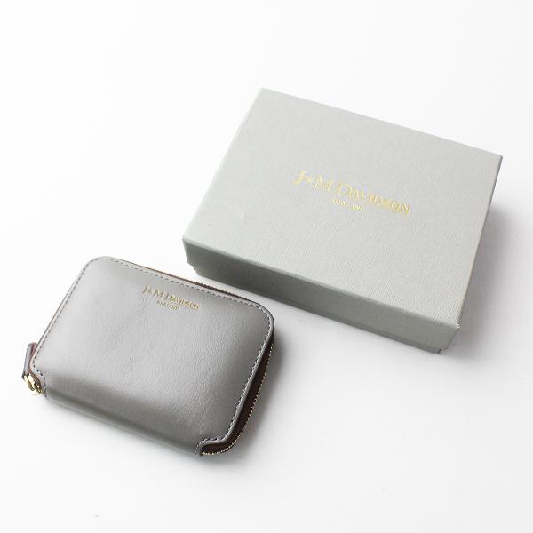 J&M DAVIDSON ジェイアンドエムデヴィッドソン SMALL ZIP PURSE ミニ 財布/グレー ウォレット サイフ【2400011370495】