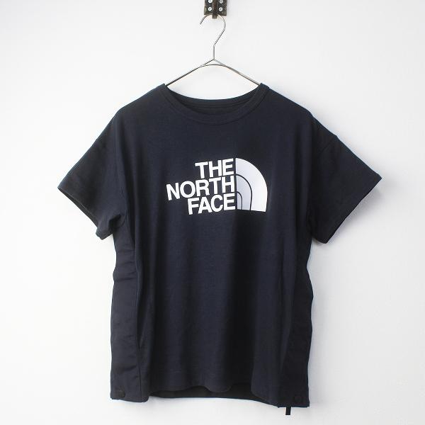 2017SS sacai サカイ × THE NORTH FACE ザノースフェイス サイドジップ ロゴ Tシャツ S/ネイビー トップス【2400011371386】