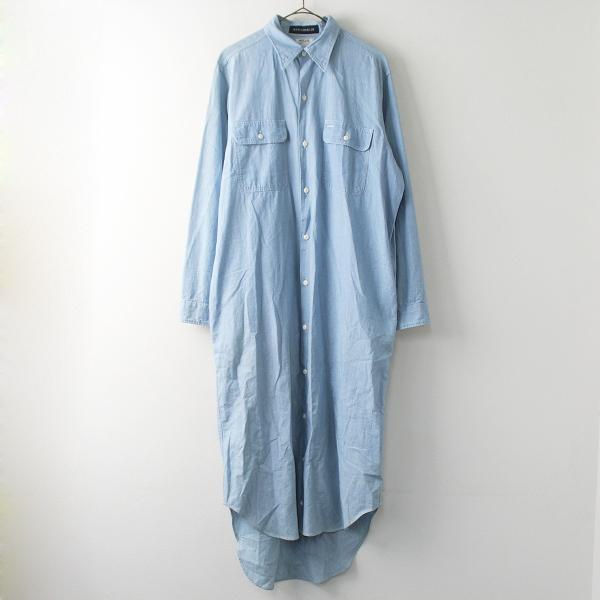 MADISONBLUE マディソンブルー HAMPTON ハンプトンシャンブレー シャツ ワンピース 01/ライトブルー 水色 ドレス【2400011372048】