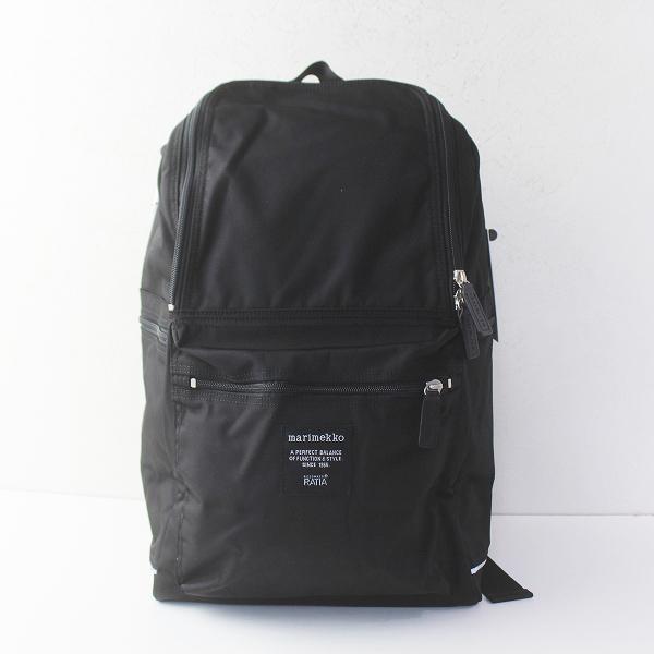 新品 定価2.3万 marimekko マリメッコ BUDDY バックパック/ブラック 鞄 かばん バッグ リュック カジュアル【2400011372420】