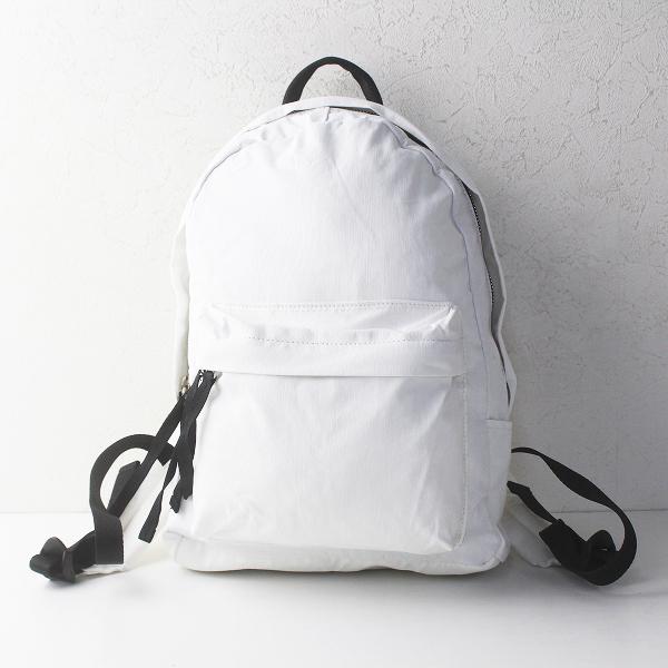 Ampersand アンパサンド コットン・ ナイロン リュック サック/ホワイト 白 デイパック バックパック リュックサック【2400011375537】