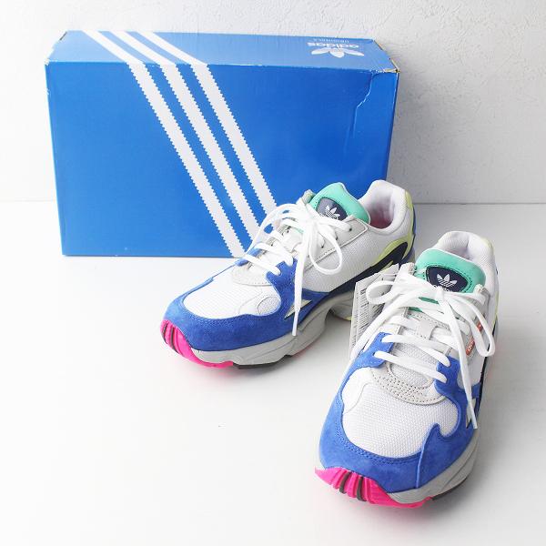 新品 2018FW adidas アディダス FALCON W RUNNING WHITE / BLUE ファルコン スニーカー 23.5/シューズ 靴【2400011375759】