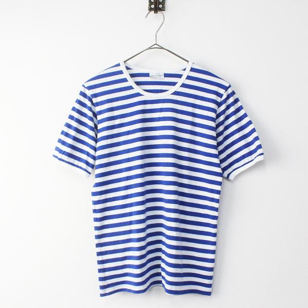 marimekko マリメッコ タサライタ ボーダー 半袖 Tシャツ/トップス カットソー ブルー【2400011375872】