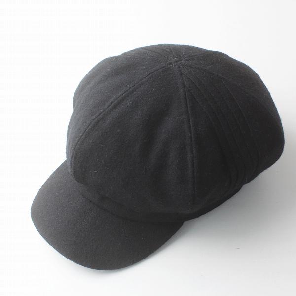 grace hats グレースハット ウール キャスケット/ブラック 帽子 小物 ぼうし【2400011375902】