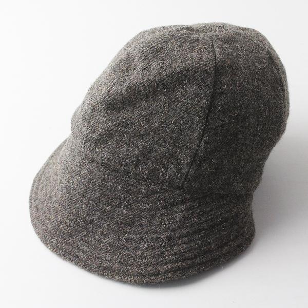 Paul Harnden ポールハーデン party pooper ウール ツイード キャップ M/パーティポッパー チャコール 帽子 小物【2400011377579】