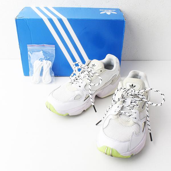 2018 富岡佳子着用 adidas アディダス FALCON W EMMI ファルコン スニーカー 22.5/ホワイト シューズ【2400011378903】