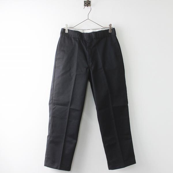美品 Dickies ディッキーズ 874 オリジナルフィット ワークパンツ/ブラック 黒 無地 メンズ MENS【2400011383785】