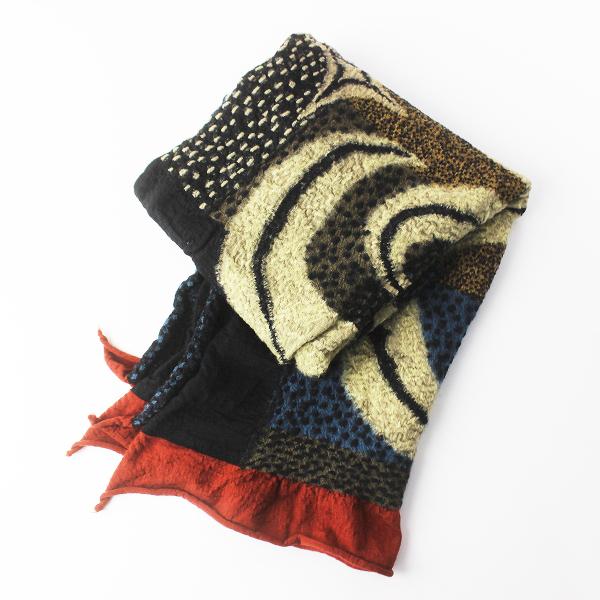 KAPITAL キャピタル 縮絨 ウール マフラー/ネイビー系 ストール ショール 羽織り 小物【2400011386007】