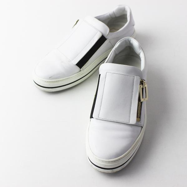 Roger Vivier ロジェ ヴィヴィエ サイドジップ レザー スニーカー 36/ホワイト シューズ 靴 くつ【2400011386113】