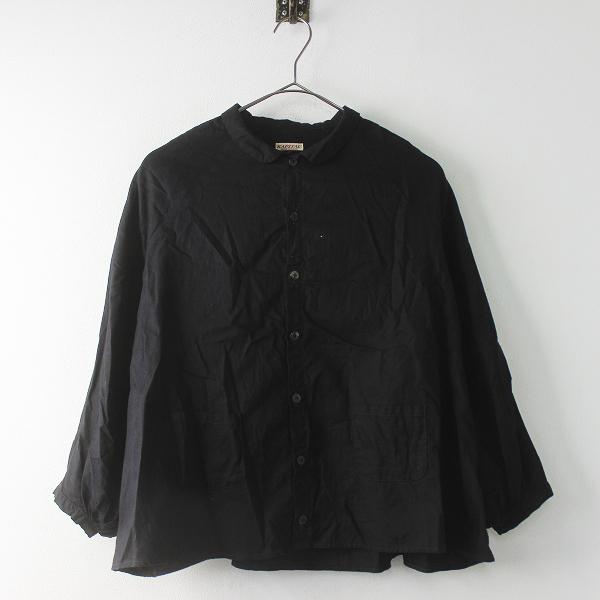 KAPITAL キャピタル OX丸衿 ベルジシャツ XS/ブラック トップス ブラウス 前開き 無地【2400011386168】