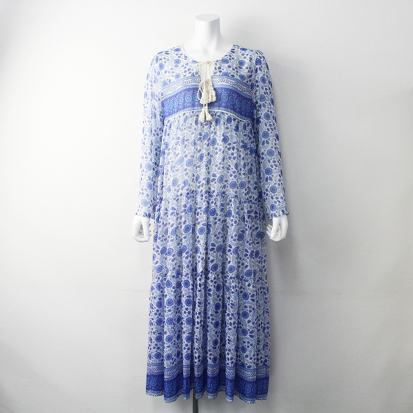 2018 定価4.5万 L'Appartement アパルトモン VINTAGE PALOMA DRESS ヴィンテージ パロマ ドレス M/L/ブルー【2400011394361】