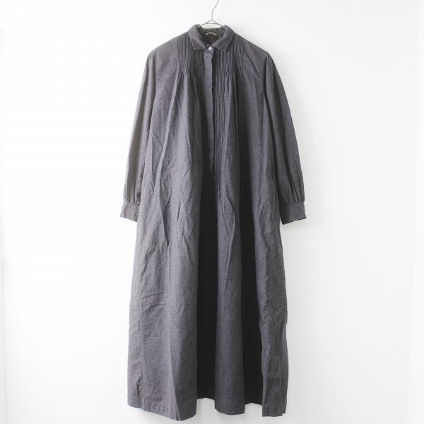 最高級 定価10万 ARTS&SCIENCE Mini collar pin tuck dress ピンタック シャツ ワンピース 1/チャコール【2400011396419】