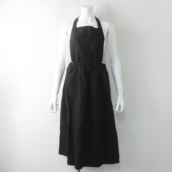 Lisette リゼッタ ウールリネン サロペット スカート 2way/ブラック イージー ウエストゴム ギャザー【2400011396587】