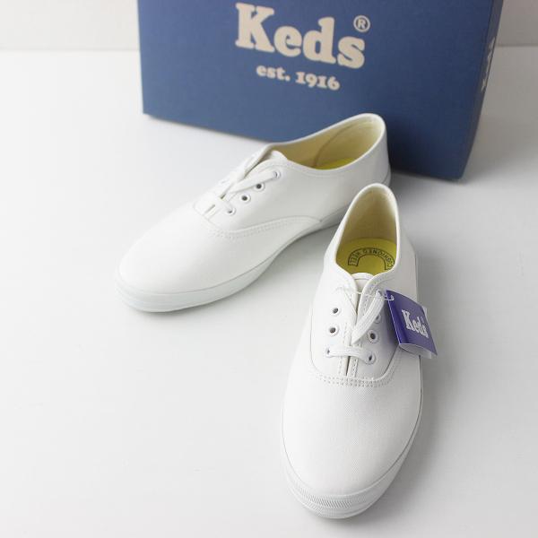 新品 Keds ケッズ Champion Ox チャンピオン オックス デッキシューズ US6/ホワイト 靴 スニーカー【2400011397188】