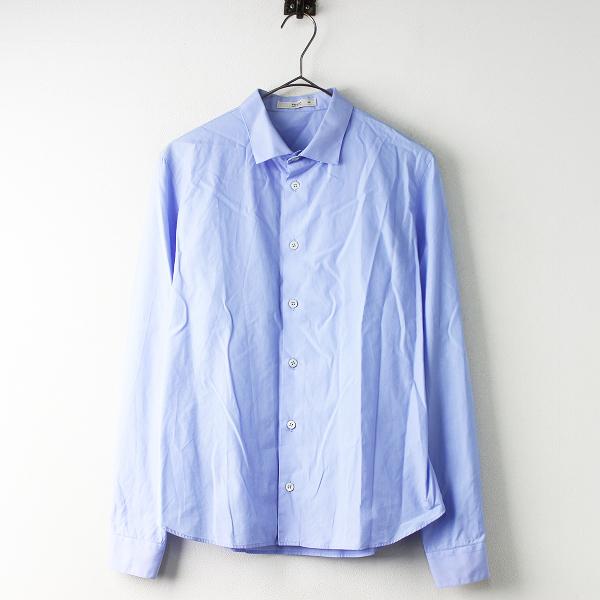 PRADA プラダ レギュラーカラー 長袖 シャツ 38/ブルー ハオリ ロングスリーブ トップス ブラウス【2400011398598】