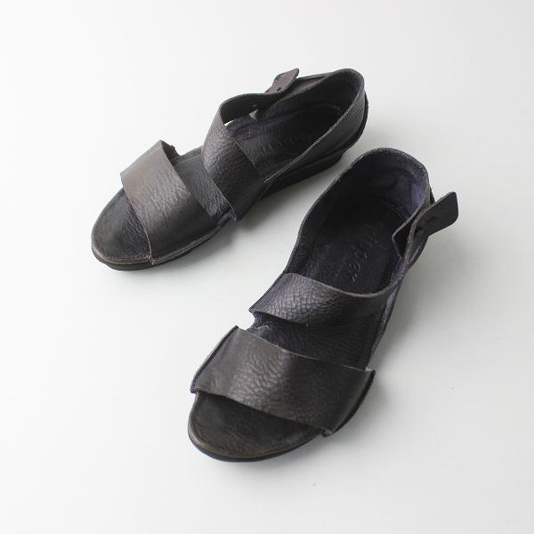 trippen トリッペン レザー ストラップ サンダル/ダークパープル 靴 クツ シューズ【2400011399250】