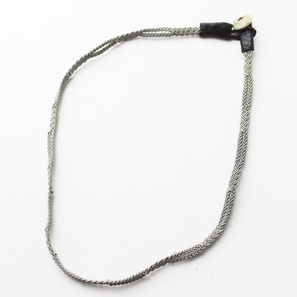 MARIA RUDMAN マリアルドマン 編み込み ネックレス/シルバーアクセサリー 小物 雑貨 レザー【2400011400062】