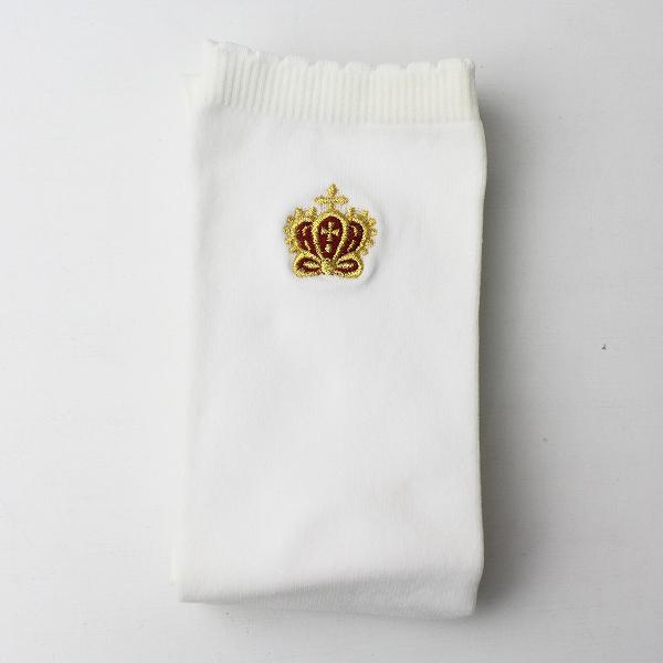 Innocent World イノセントワールド クラウン 刺繍 ハイソックス/オフホワイト 靴下【2400011401748】