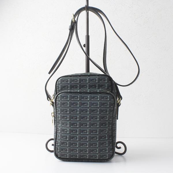 Q-pot. キューポット チョコレート ショルダー バッグ/ブラック かばん 鞄【2400011401809】