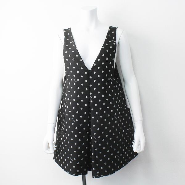 Lois CRAYON ロイスクレヨン ボタンドット ジャンパースカート M/ジャンスカ ブラック ワンピース【2400011403469】