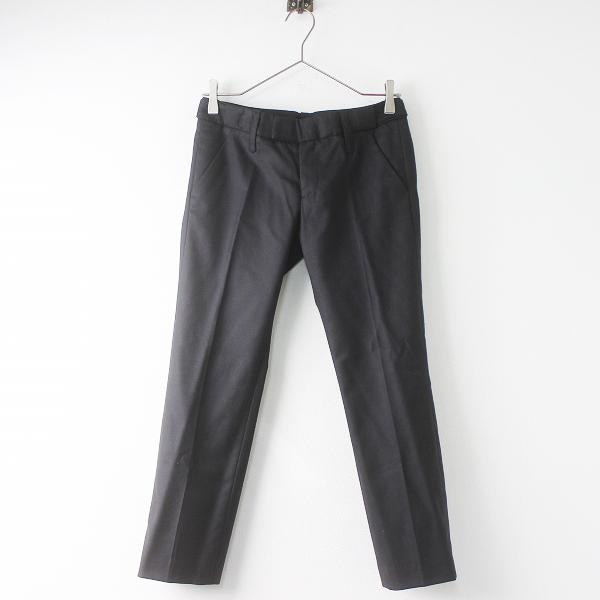 STUNNING LURE スタニングルアー ウール シルク パンツ 34/ブラック ボトムス ジップフライ 無地【2400011404206】